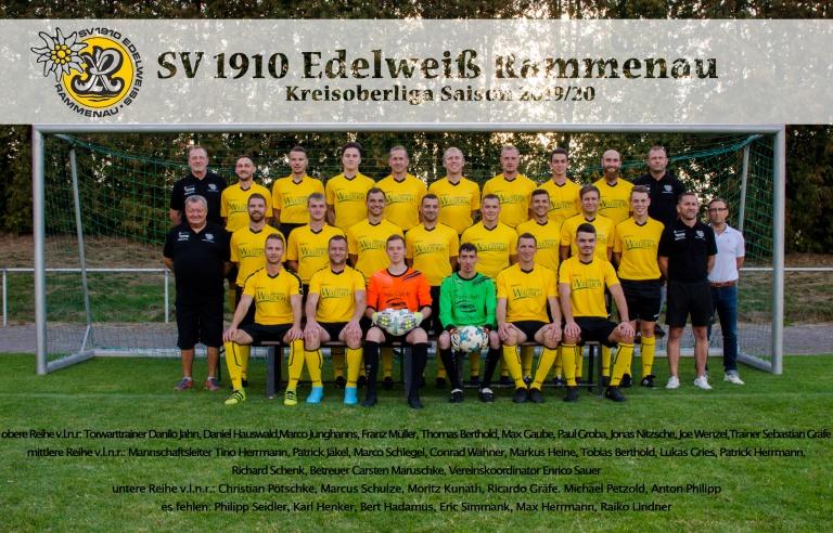 Mannschaftsfoto Edelweiß Rammenau Saison 2019/20
