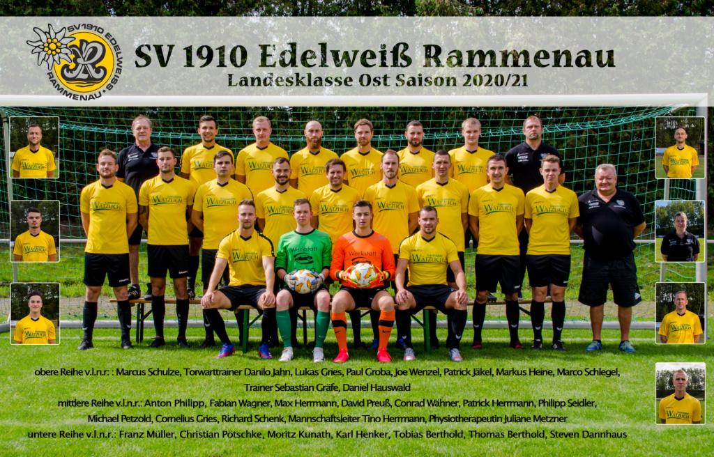 Mannschaftsfoto 2020-21 Edelweiß Rammenau